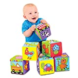 Six foam filled blocks to play with Ideal for squeezing and throwing Soft and safe Washable Manufacturers recommended age 6 months+