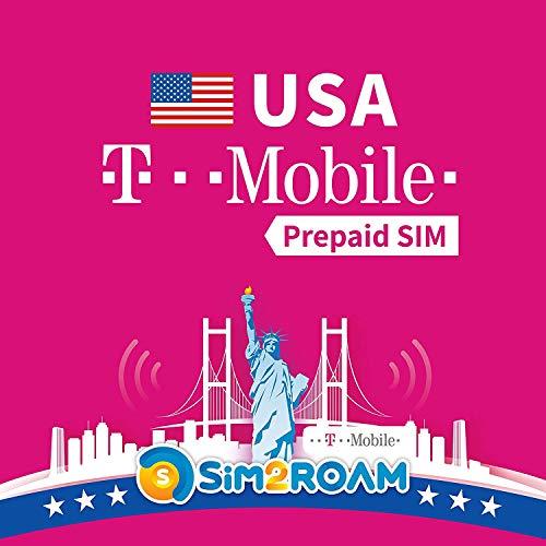 SIM2ROAM USA Sim Card (T mobile sim). Internet alta velocita' illimitato 4G LTE Internet |...