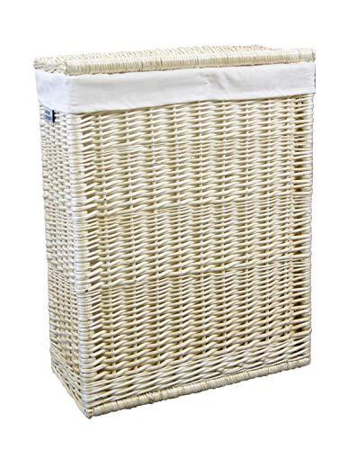 animal-design Cesto para la ropa sucia (mimbre), color blanco