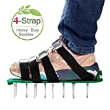 RVZHI Lawn Aerator Shoes with 4 Straps and Heavy Duty...