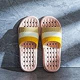 Hong Yi Fei-Shop Sandalias para Mujer Ducha Zapatillas con Orificios de desagüe de Secado rápido Masaje Baño Zapatillas Suavemente único Punta Abierta Casa Zapatillas for Hombres y Mujeres Sandalias