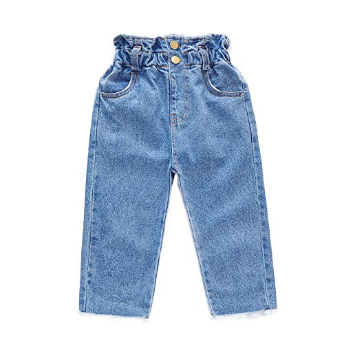 nobrand Baby Mädchen Jeans High Waist Jeans Baby einfarbige Jeans für Kinder Mädchen Frühling Herbst Kinderkleidung