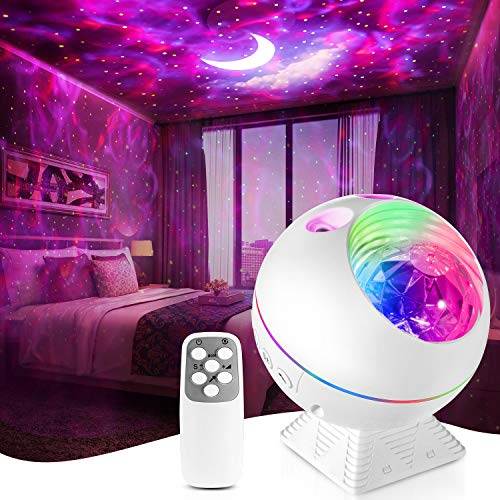 Star Projector,Galaxy Night Light Lamp Lite Room Bedroom Decor,Led Cloud Ceiling Adults Ocean Nebula Voice Control Timer Kid Starry Starlight Night-Lights Birthday Gifts Womem Mom Remote