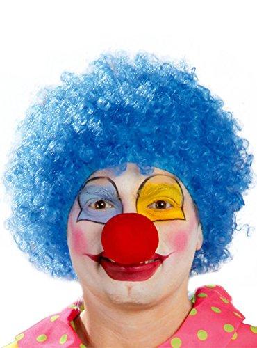 Guirca Blaue Clown Locken Perücke für Erwachsene