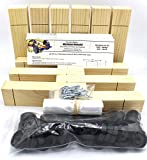 Maximum Velocity Derby Car Kits | Bulk Pack (12) | Pine Block Kits Includes Wheels & Axles | Pinewood Car Kits