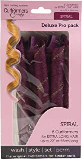 Curlformers Hair Curlers Deluxe Range Spiral Curls Top Up Pack, 6 No Heat Hair Curlers (Styling Hook not Included), for Extra Long Hair up to 22
