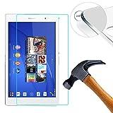 Lusee 2 Pièces Verre Trempé pour Sony Xperia Z3 Tablet / Z3 Tablet Compact 8.0'' Tablet Film Protection écran [9H Verre Dur]...