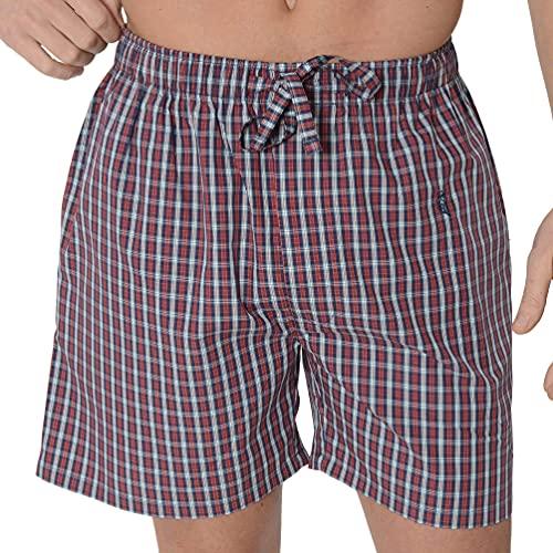 El Búho Nocturno - Pantalón Corto Popelín Cuadros Rojo 100% algodón Talla 3 (M)