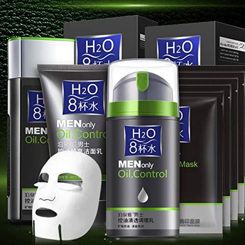 BIOAQUA Kit de cuidado de la piel para hombres Mascarilla limpiadora tónica con acondicionador