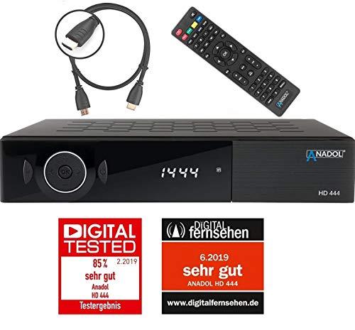 Anadol HD 444 HDTV Satelliten Sat-Receiver Digital-Receiver für Satellitenfernseher (DVB-S / DVB-S2, HDMI, 2x USB, 1080p Full-HD) [ vorprogrammiert für Astra Hotbird Türksat ] + HDMI Kabel