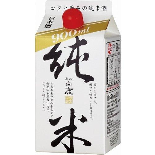 辰馬本家酒造 黒松白鹿 純米パック(兵庫) 900ML 1缶辰馬本家酒造 黒松白鹿 純米パック(兵庫) 900ML 1缶