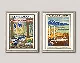 WallBuddy Set von 2 neuseeländischen Reise-Postern