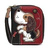 CHALA Zip-Around Wallet - Dog Gen II - Burgundy