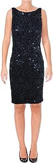 Ralph Lauren Womens Sequin A-line Dress nvynvysh 10