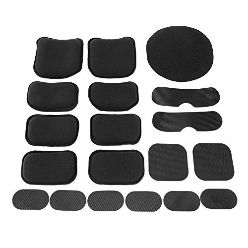 Yosoo Health Gear Universele Helm Pads, 19 stks Helm Schuim Pad Vervanging Tactische Helm Pads Kit Motorfiets Bike Accessoires Matten voor Fast Mich ACH USMC PASGT Helm