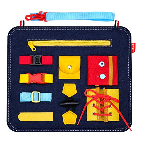 Toddlers Toy Gifts for 2-5 Year Old Girls Boy, Baby Learning Montessori Toys for Kids Girl Boy Age 1-4 Toddler Birthday Present Gift Educational Sensory Busy Board Toy for 3-6 Year Olds Kid Child