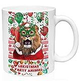 teesquare1st Christmas Lion 11oz Tazza da Caffe Natalizia/Tazza di Natale