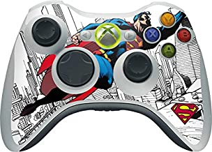 Skinit Decal Gaming Skin for Xbox 360 Wireless Controller - Officially Licensed Warner Bros Flying Superman Design