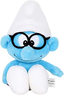 The Smurfs Smurfs Brainy Smurf, Stuffed Animals Plush Toy Cute Gift for Kids Backpack Clip 8