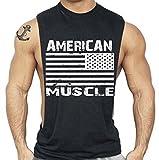 Interstate Apparel Inc American Muscle Workout T-Shirt Bodybuilding Tank Top Black S-3XL (M, Black)
