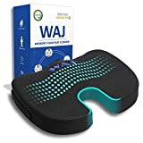 RFG Memory Foam Seat Cushion for Office Chair - Comfortable Desk Chair Cushion - Car Seat Cushion - Coccyx Orthopedic Pad - Relieves Back, Hip, Tailbone, Sciatica Pain