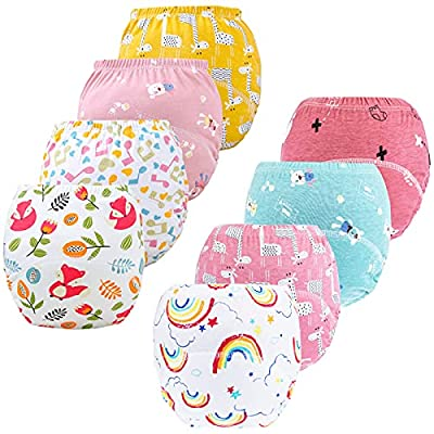 8 Pack Potty Training Pants for Boys Girls, Learning Designs Training Underwear Pants by JackLoveBriefs