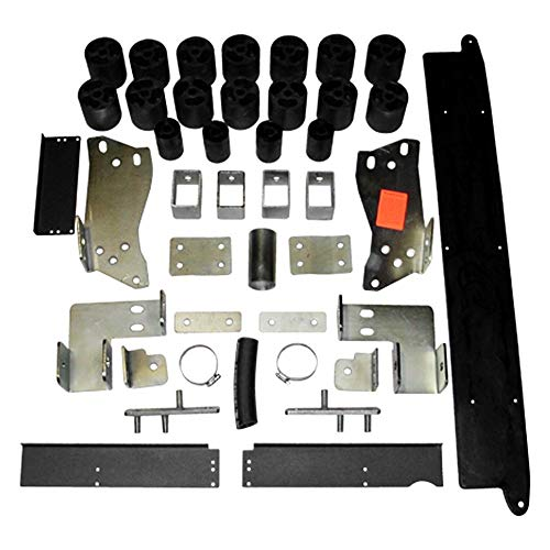 Daystar PA10133 Body Lift Kit; 3 in. Lift; Incl. Steering Extension; Front/Rear Bumper Brackets; Radiator Relocation Brackets; All Required Hardware;
