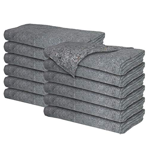 Moving Blankets - Professional Packing Shipping Moving Pads - Cheap Cheap Moving Boxes (Textile Blankets (22 lb/dz) - 12 Pack)
