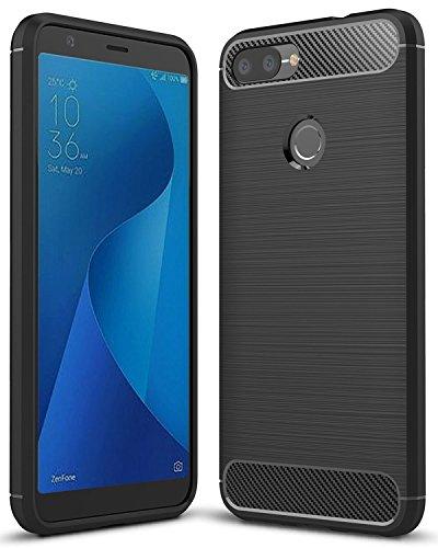HualuBro Zenfone Max Plus ZB570TL Hülle, Slim Soft Flex TPU Silikon Bumper Handyhülle Schutzhülle Tasche für ASUS ZenFone Max Plus (M1) ZB570TL Hülle Cover - Schwarz