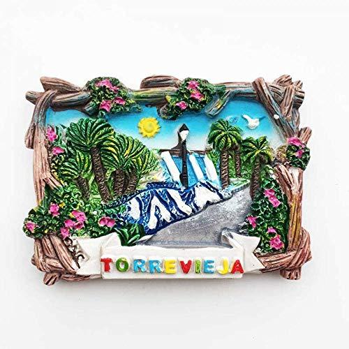 Imanes de nevera de España Torrevieja Valencia recuerdos turísticos adhesivos magnéticos para decoración del hogar