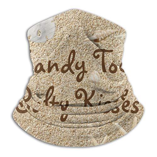 Bandana para la playa, con diseño de besos salados, para la cabeza, bufanda, calentador de cuello, pasamontañas para motocicleta, ciclismo, equitación y correr