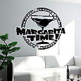 WSLIUXU Restaurant Bar Wandtattoo Vinyl Alkohol Getränk Margarita Glas Dekorative Küche...