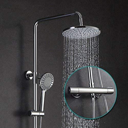 Constante temperatuur doucheset luxe Ming douchekop Set compleet chroom koper badkamer voor het huis