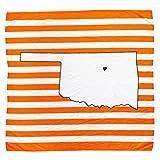 TWIG & BALE Oklahoma State Baby Blanket Organic Cotton Muslin Swaddle Blanket - 47' x 43' - Fans of OSU Cowboys Baby Gift for Boys Girls Newborn Receiving Blanket