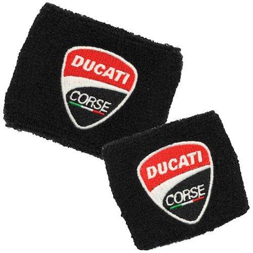 Ducati NEW Corse Black Brake and Clutch Reservoir Cover by MotoSocks Set Fits 748, 749, 848, 848 Evo, 916, 996, 998, 959, 1199, 1299, ST2, ST3, ST4, Streetfighter, Hypermotard, Multistrada,1200