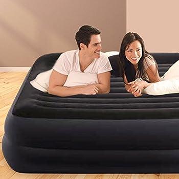 Intex L&G FR 64424 REST BED FIBER TECH Lit gonflable Vinyle Bleu Marine 152 x 203 x 42 cm