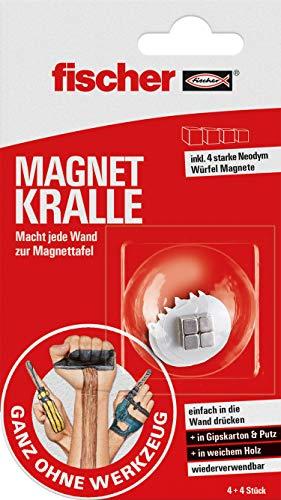 Fischer magneet kraal, snelle bevestiging zonder boren, met sterke neodymium blokmagneten, herbruikbaar, voor het magnetisch aanbrengen van posters, afbeeldingen, kaarten, enz.