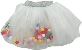 FENICAL Faldas de tutú Princess Kawaii Soft Veil Lovely Balls Girls Talla M (Blanco)