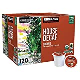 Kirkland Signature Organic House Decaf Coffee K-Cups, 120 Count