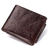 Leather Multi-Function Men's Wallet Fashion Leather Clutch Coin Purse Carteras Monedero de Cuero de la Moda del Monedero de Cuero de la Moda de los Hombres de múltiples Funciones (Size S)