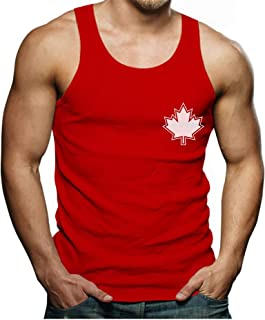 Canada Day Maple Leaf Pocket Print Canadian Patriotic Men's Tank Top