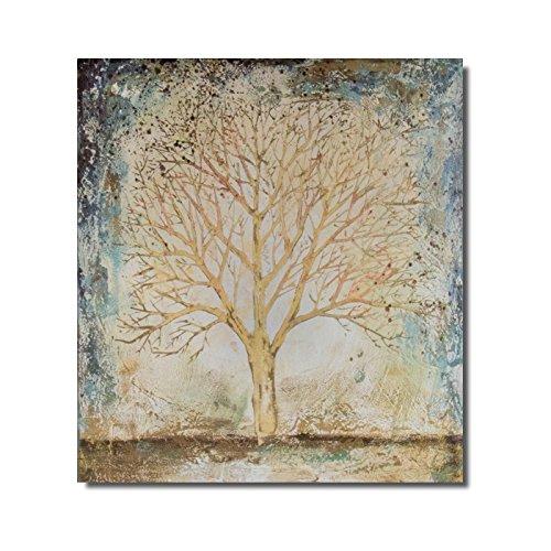 Belssia Lienzo Árbol de la Vida Tela Multicolor 95x4x110 cm