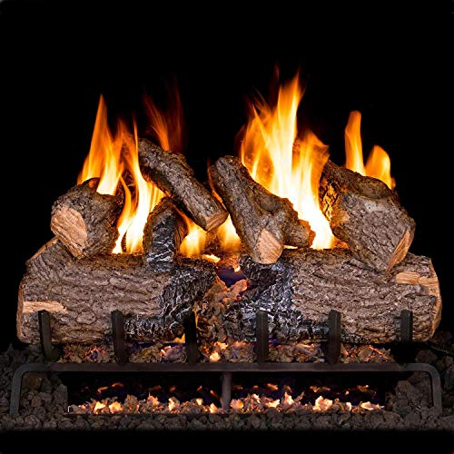 Best Deals! Peterson Real Fyre 24-Inch Charred Oak Gas Log Set with Vented Natural Gas ANSI Certifie...