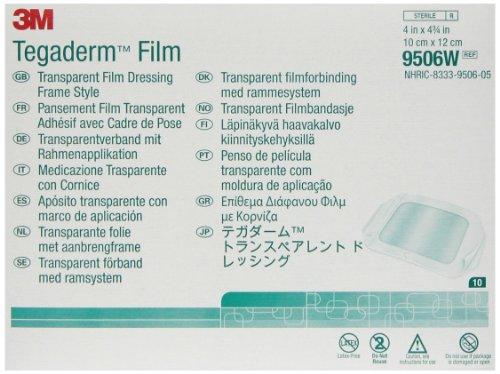 3M™ Tegaderm™ Transparent Film Dressing 9506W, 10 Dressings/Carton 10 Cartons/Case