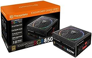 Thermaltake Toughpower Grand RGB 850W 80+ Gold Smart Zero 256-Color RGB Fan Fully Modular Power Supply 10 Yr Warranty PS-TPG-0850FPCGUS-R