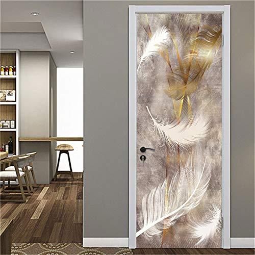 Luckyyy 3D wallpaper voor deuren, doe-het-zelf plakfolie, waterdicht, verwijderbaar, geometrisch behang, muurtattoos