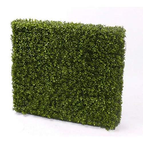 artplants.de Set 2 x Künstliche Buchshecke Tom, 5700 Blätter, Metallrahmen, 120x85cm - Künstliche Hecke - Buchs Pflanze