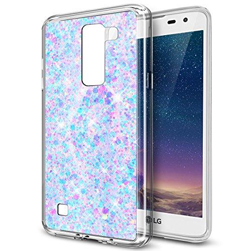 ikasus Coque LG K7/K8 Etui Silicone Etui Housse TPU avec brillant paillettes bling diamant glitter Silicone Gel TPU Souple Housse Etui Protection Case Coque pour LG K7/K8,Violet clair