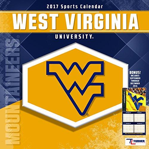 """Turner Licensing Sport 2017 West Virginia Mountaineers Team Wall Calendar, 12""""X12"""" (17998011829)"""