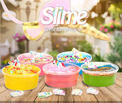 KiddosLand Unicorn Crystal Slime Kit for Girls Boys Unicorn Gifts for Kids Party Inclusive Glow in The Dark Slime Making… 7